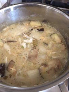 witlof aubergine soep
